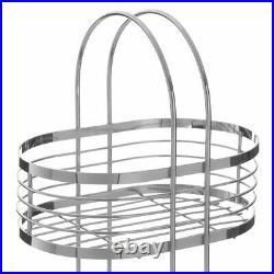 Free Standing 3 Tier Chrome Shower Caddy Bathroom Storage Rack Shelf Organiser