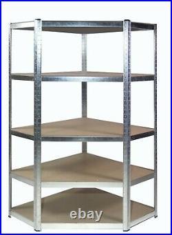 Galvanised Corner Shelving/Racking Kit Garage Storage Shelves 175kg 1800mm H
