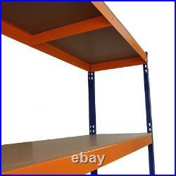 Garage Racking Heavy Duty Shelving 4 Tier Unit Boltless Steel Bay Shelves 150cm