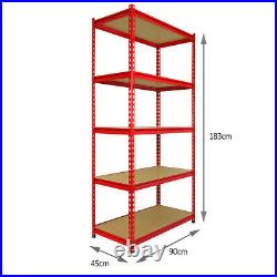 Garage Racking Storage Shelving Unit Shelves Steel Heavy Duty Metal Shelf 5 Tier