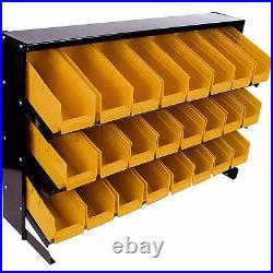 Garage Tools Storage Organizer Hanging 24 Bins Wall Rack Trays Shelving System