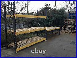 Garage/workshop Storage 1x Bay of Racking/Shelving and 1x work bench. VGC