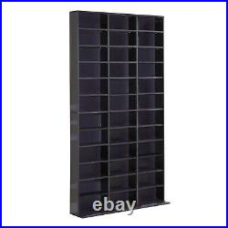 HOMCOM Wooden CD DVD Media Storage Racks Shelves Bookcase Shelf