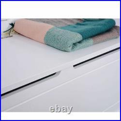 Hallway Coat Stand Shoe Rack 6 Hooks Garment Storage Unit Shelf Furniture White