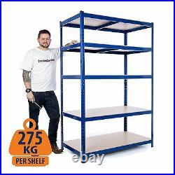 Heavy Duty Steel Shelving Units Metal Garage/Shed Storage Racking 275kg UDL
