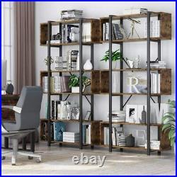 Industrial 6-Tier Ladder Shelf Bookshelf Metal Display Rack Storage Shelving