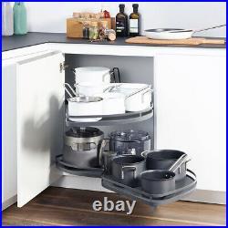 Kitchen Cabinet Cupboard Corner Pull Out Shelf Carousel Storage Rack Soft Close