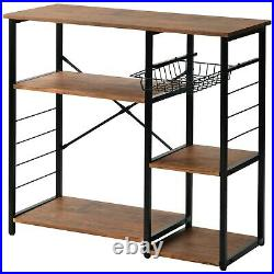 Kitchen Trolley Microwave Cart Shelf Unit Storage Rack Cart Kitchen Baker's Rack