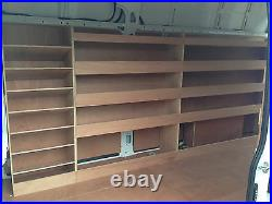 Mercedes Sprinter Van Shelving Racking LWB Plywood System Case Storage Unit