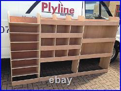 Mercedes Sprinter Van Shelving Racking MWB L2 Plywood System Case Storage Unit