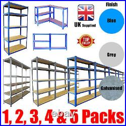 Metal Shelving Industrial Boltless Racking Garage Heavy Duty Shelf Bay Blue Grey