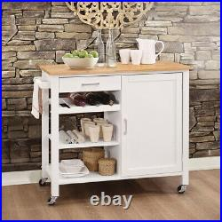 Moving Kitchen Island Storage Sideboard Trolley Cart Cupboard Shelf Cabinet Rack