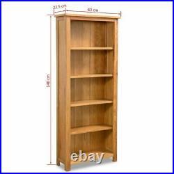 Oak Bookcase DVD Rack Home Book Shelf Cabinet Display Storage Solid Wood Wooden