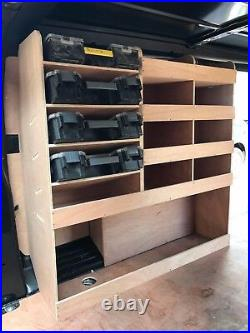 Peugeot Expert Van Shelving Racking L3 LWB Plywood System Case Storage Unit