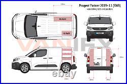 Peugeot Partner SWB 2019+ Van Racking Tool Storage Shelving OS Front