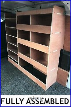 Peugeot Partner Van Shelving Racking Plywood System Case Storage Unit Off Side