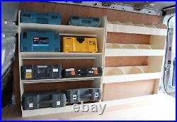 Renault Trafic Traffic LWB 2015+ Van Racking Toolbox Storage DOUBLE UNIT Shelves