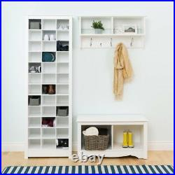 Shoe Storage Cabinet Organizer Rack Shelf Cubby Entryway Standing White 36 Shoes