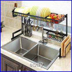Stainless Steel Kitchen Sink Drain Rack Shelf Sishes Cutlery Organizer Storage