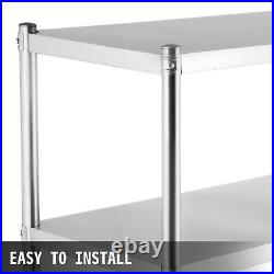 Stainless Steel Shelving 155cm Heavy Shelf/Rack Storage Unit Kitchen Commercial
