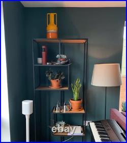 Tall Industrial Bookcase Vintage Retro Shelving Unit Storage Rack Metal Cabinet