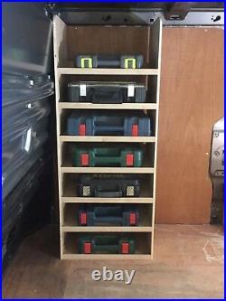 Transit Custom Drivers Side Front Toolbox Storage Van Racking Ply Shelving