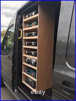 VW CRAFTER Sidedoor Drillbox Storage Van Racking Sytem Plywood Shelving