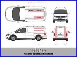 VW Caddy Maxi Van Racking Tool Storage Shelving Passenger Side