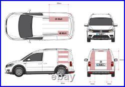VW Caddy SWB Plywood Van Racking Shelving Tool Storage Passenger Side