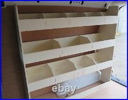 VW Caddy SWB Plywood Van Racking Van Shelving Tool Storage, Driver side