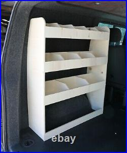 VW Transporter Kombi T5 & T6 SWB Van Racking Tool Storage Shelving NS Rear