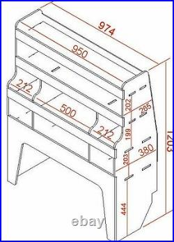 VW Transporter T5 / T6 / T28 / T30 Van Shelving Tool Storage Racking Unit WR35
