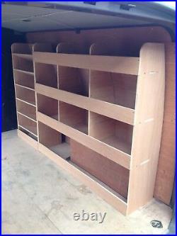 VW Transporter Van Shelving Racking SWB T5 T6 Plywood System Case Storage OS