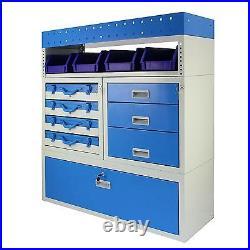 Van Racking Storage Rack Metal Shelving System Lockable Drawers Unit Assembled