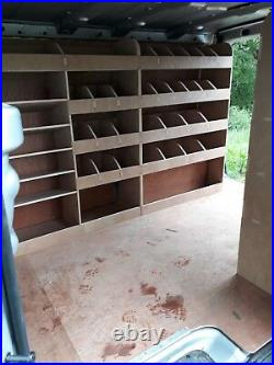 Vauxhall Vivaro SWB L1 Plywood Van Shelving Racking System Tool Storage Unit Div