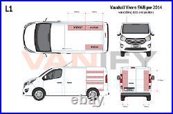 Vauxhall Vivaro SWB L1 pre 2014 Van Racking Tool Storage Shelving OS Rear