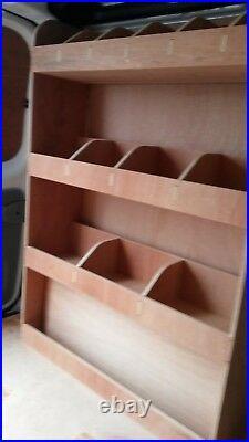 Vauxhall Vivaro SWB Tool Parts Storage Unit Ply Shelving, Van Plywood Racking