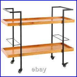 Vintage Kitchen Trolley Serving Bar Drinks Cart Wine Tray Shelves Storage Rack