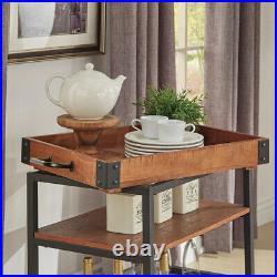 Vintage Serving Drinks Trolley Cart Kitchen Dining Shelf Metal Frame Bar Storage
