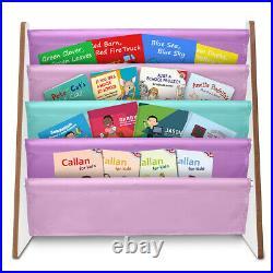 Wooden Bookcase Children Kids Book Shelf Rack Storage Bookshelf Tidy Organizer